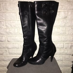 Cole Haan Air Jalisa Tall Leather Boots stretch